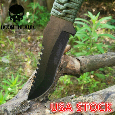 Fixed Blade Knife Sharp Durable Camping Hunting Survival Tactical Straight Knive