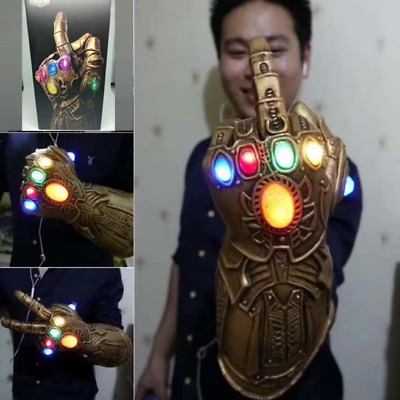 Avengers 4 Endgame Thanos Figure Led Infinity Stones War Gauntlet Cosplay Glove