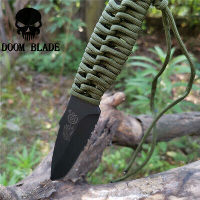 Fixed Blade Knife Bushcraft Knives Straight Tactical Hunting Camping EDC Tool