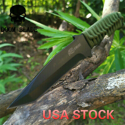 Tactical Knife Outdoor Army Hunting EDC Tools Survival Rescue Knives Fixed Blade