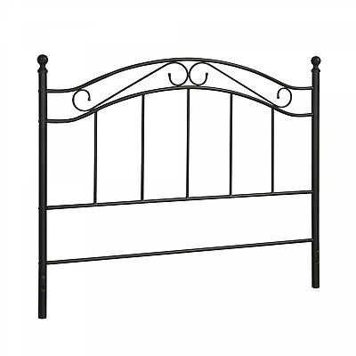 Mainstays Black Metal Headboard Durable Powder-Coated Bed Frame Full/Queen Size