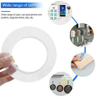 1-5M Double-sided Grip Tape Traceless Washable Nano Invisible Gel Tape dm