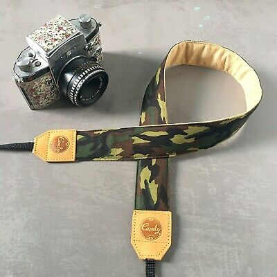 Camo Flag Camera Shoulder Neck Strap Belt for Sony Nikon Canon Olympus DSLR