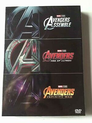 Marvels The Avengers / Age of Ultron / Infinity War 1 2 3 DVD Box set Collection