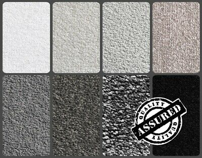 QUALITY SERENE GREY CARPET | 8 SHADES OF GREY | HESSIAN BACKED 13mm THICKNESS