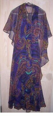 Maxi Dress Dead Stock Psychedelic Halter Jack Bryan Galaxy Gown Vintage 60s NOS