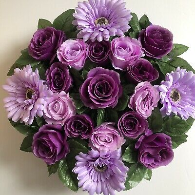Heart Shaped Silk Artificial Funeral Flowers Wreath/Memorial/Grave Tribute
