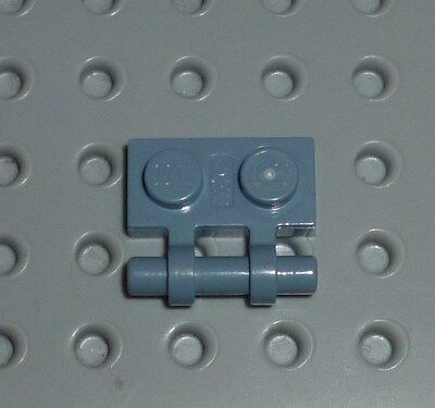 LEGO PART 2540 BLUE PLATE MODIFIED 1 X 2 ON SIDE 15 PIECES