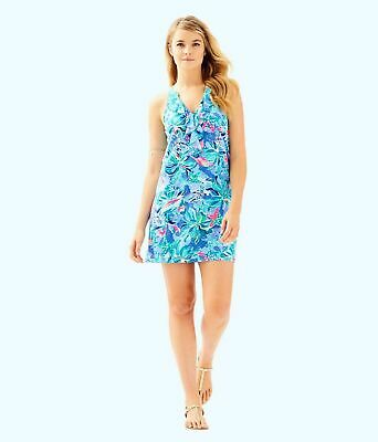 32541513dc87fc NWT LILLY PULITZER NEW $98 Bennet Blue Celestial Seas Shay Dress XS ...