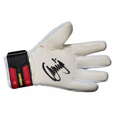 Jerzy Dudek Signed White and Red Umbro Goalkeeper Glove Autograph