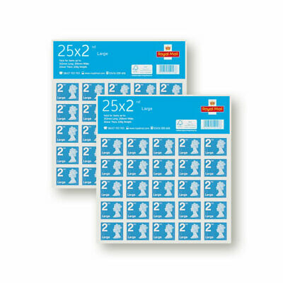 2nd Class Large Letter Postage Stamps - Genuine Royal Mail Stamp - Fast Delivery
