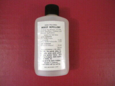 Vietnam Era US Army Bottle of Insect Repellent - Dated 1966 - NOS Unissued