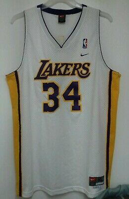 f2a3ac87d2d Vintage Nike Authentic NBA Los Angeles LA Lakers Shaquille O'Neal Jersey