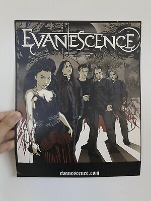 Signed Evanescence / Amy Lee Poster from The Open Door Era