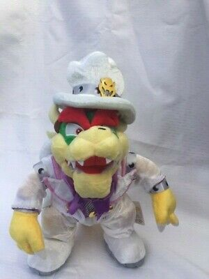 Super Mario Bros Odyssey Wedding Dress Bowser Koopa Plush Dolls 35CM