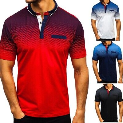 Men's Short Sleeve Summer Polo Shirts Casual Loose Dress Soft Tops Tee Shirt Lot