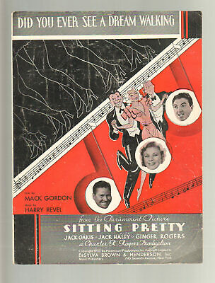 Assis Pretty 1933 Ever See A Dream Walking Ginger Rogers Feuille Musique Q19