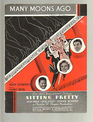 Assis Pretty 1933 Many Moons Ago Ginger Rogers Film Vintage Feuille Musique Q19