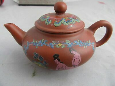 Collect Antique Chinese old Yixing purple sand teapot Qianlong