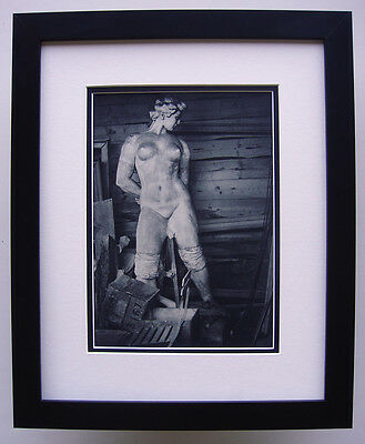 "Magnificent 1930s Brassai Antique Photogravure ""The Maillol Statue"" Framed COA"