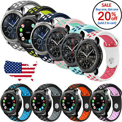 Silicone Replacement Band Strap Sport For Samsung Gear S3 Frontier Classic Watch