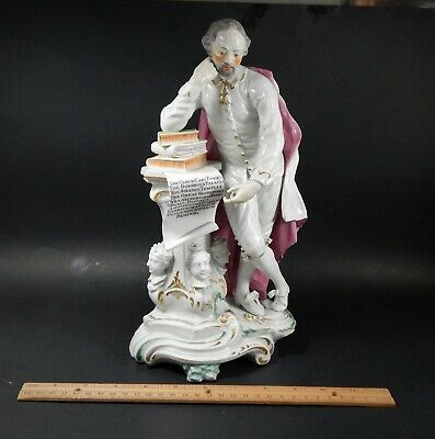 Antique 18th Century Derby Figure of Shakespeare Circa 1770 with Exc Provenance