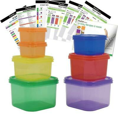 FOOD PORTION CONTROL Containers 21 Day Diet Plan Kit Healthy