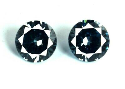 Color Changing Alexandrite 2 Pcs Gemstone Pair 4.80 Ct Round Cut AGSL Certified