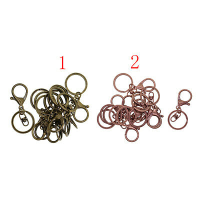 10x Lobster Clasp Swivel Trigger Clip Hook KeyRing Keychain Jewelry Findings