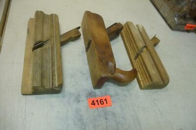 4161. 3 Stück alter Hobel Holzhobel   Old Wood Planes Working Tools