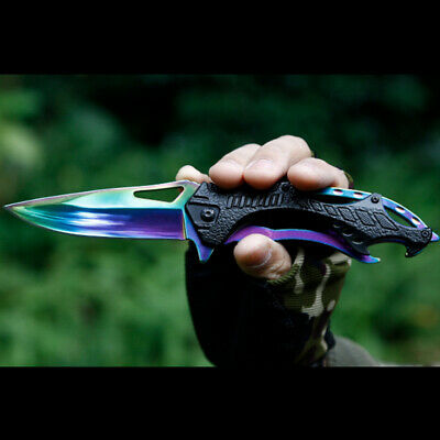 Tactical High Hardness Jackknife Field Hunting Knife Self Defense Outdoor Fold