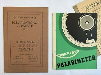 Historische Reichert Polarisation Apparate Kataloge 1911 / pol devices 1911