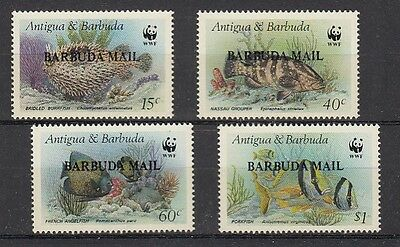 D. Fish Sealife Barbuda Mail 953 - 56 Wwf (MNH)