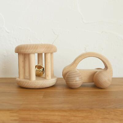 Mamimami Home Juguete Bebé Teether de madera Rattle 2pc Montessori Play  (Z2015)