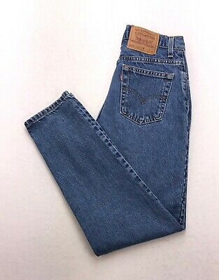 cebd0ff0307 I304 VTG USA Levi's 551 / 550 Relaxed Tapered High Rise Mom Jeans sz 8 (