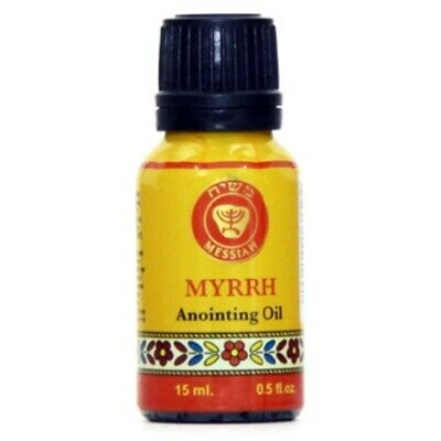 Myrrh anointing Oil from Ein Gedi in its new and amazing look Cobalt blue glass
