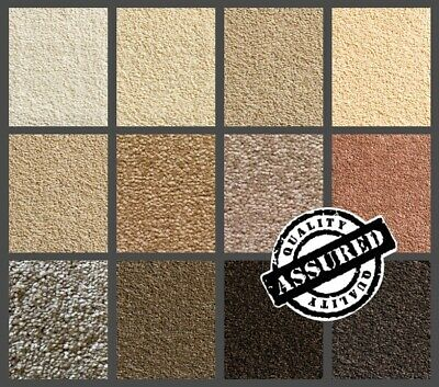 QUALITY SERENE BROWN CARPET   13 SHADES OF BROWN   HESSIAN BACKED 13mm THICKNESS