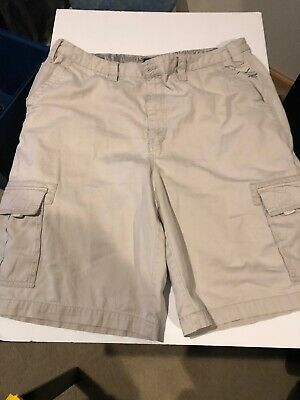 4fbb9d6b21 TONY HAWK REGULAR FIT Mens COTTON/POLY/NYLON CARGO SHORTS DARK KHAKI ...