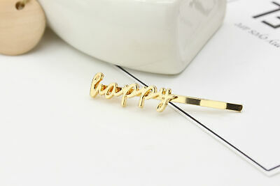 Girl's Fashion Letter Hair Clip Bobby Pin Hairpin Hair Accessory Jewelry Gifts
