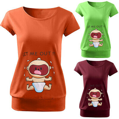 dfa8baab5e5ff Women Maternity Summer Casual Cartoon Short Sleeve T Shirt Pregnancy Tops  Blouse