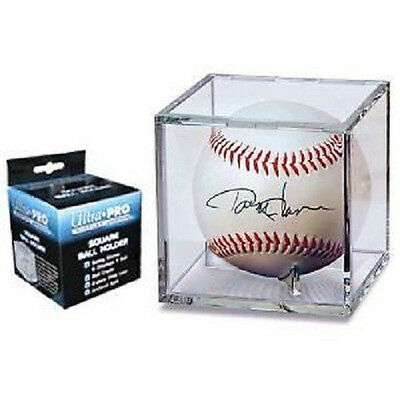 2 Ultra Pro UV Baseball Cube Holder with stand New Ball Cubes