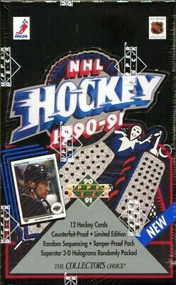 1990-91 Upper Deck LOW SERIES Hockey Hobby Box