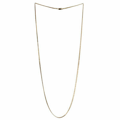 """925 Sterling Silver Yellow Gold Plated Mariner Chain Necklace for Men Women 30"""""""