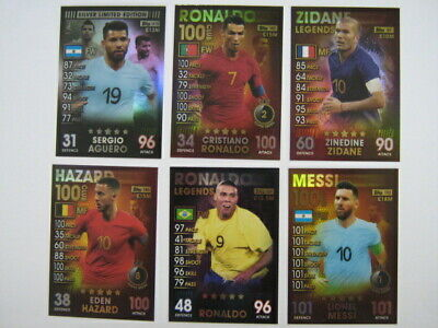 Match Attax 101 Trading cards - choose Limited Edition, 100 club, Legends etc