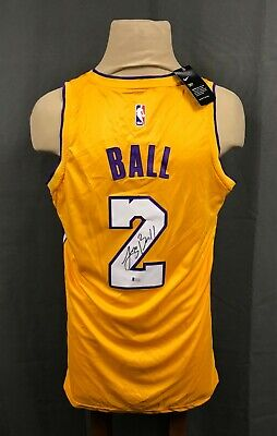 size 40 ab076 847c2 LONZO BALL SIGNED Lakers Nike Jersey Size 48 Nba Authentic ...