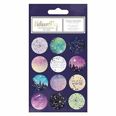 Noteworthy - Constellations Star Gazer Desk Stationery Range - Dome Stickers