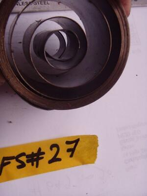 FS#27 FUSEE MOVEMENT CLOCK MAIN SPRING  / mainspring approx depth 40.2mm