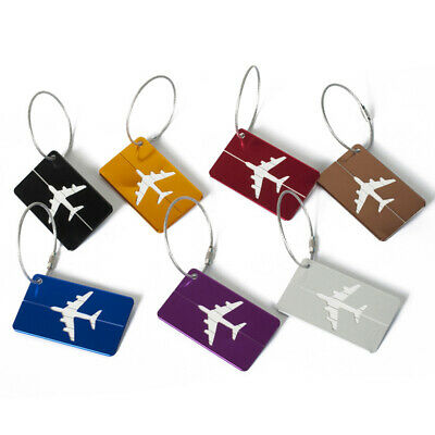 New Aluminium Luggage Tags Suitcase Labels Name Address ID Bag Baggage Travel