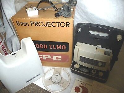 Cine film projector ILFORD ELMO FP-C 8mm + original box + INSTRUCTIONS