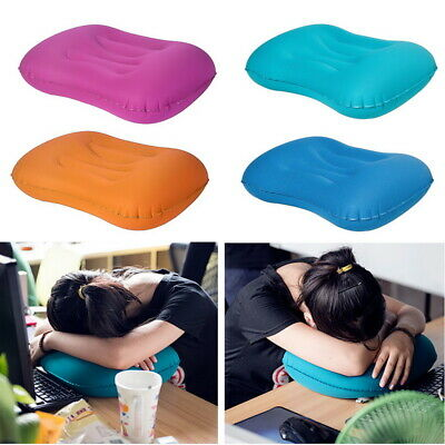 Portable Outdoor Air Inflatable Soft Sleep Travel Pillow Cushion Neck Protect